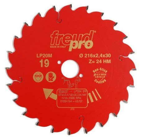 Freud LP20M019 Pro TCT Circular Saw Blade 216mm X 30mm X 24T