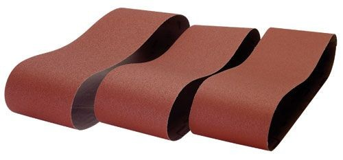 Record Power BDS250 Linishing Belts 120 Grit 152x1219mm, 3 Pack