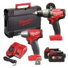 Milwaukee M18 PP2B-502X FUEL Twin Pack 18 Volt 2 x 5.0Ah Li-Ion was £479,95 £439.95 Milwaukee M18 Pp2b-502x Fuel Twin Pack 18 Volt 2 X 5.0ah Li-ion