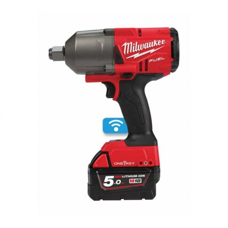 "Milwaukee M18ONEFHIWF34-502X - M18 18v ONE-KEY Fuel 3/4"" Impact Wrench  w/ Friction Ring 2 x 5.0Ah Batteries"