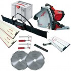 MAFELL MT55CC 240V PLUNGE SAW + 1 x 1.6M & 1 x 800mm GUIDE RAILS  + CONNECTOR + 2 x  CLAMPS & RAIL BAG & SLIDING BEVEL & £629.95