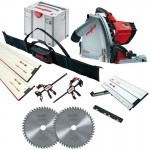 MAFELL MT55CC 110V PLUNGE SAW + 1 x 1.6M & 1 x 800mm GUIDE RAILS  + CONNECTOR + 2 x  CLAMPS & RAIL BAG & SLIDING BEVEL & £629.95