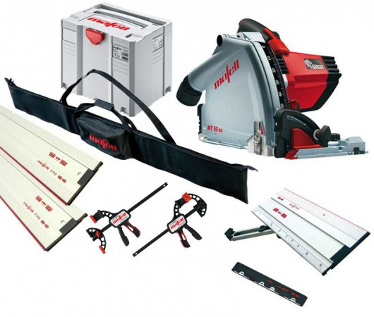 Mafell MT55CC 240v Plunge Saw + 1 x 1.6M & 1 x 800mm Guide Raile  + Connectors + 2 x  Clamps & Rail Bag & Sliding Bevel