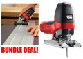 MAFELL P1CC 110V 900W JIGSAW IN MAFELL T-LOC CASE + TILTING BASE & 800mm GUIDE RAIL £494.95 Mafell P1cc 110v 900w Jigsaw
