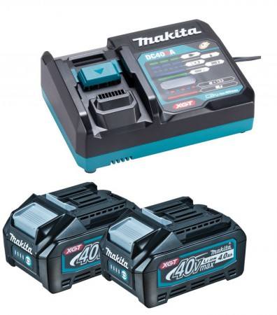 Makita 40V XGT Power Source Kit 2 x 4.0Ah Batteries + DC40RA Charger & MakPac Case