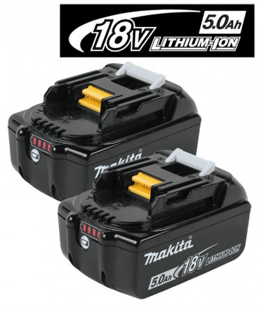 Makita BL1850B 18V 5.0Ah Li-ion Battery Pack With LED Battery Indicator (PACK OF 2)