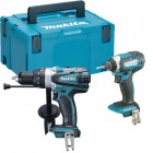 Makita 18V Twin Pack DHP458Z & DTD152Z Bodies & MakPac Case £159.95