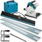Makita DSP600ZJ 18V LXT 2 x 18v (36V) Brushless Cordless Plunge Saw - Body Only With MakPac Case & Rail Kit £499.95