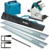 Makita DSP600ZJ 18V LXT 2 x 18v (36V) Brushless Cordless Plunge Saw - Body Only With MakPac Case & Rail Kit £499.95 Makita Dsp600zj 18v Lxt 2 X 18v (36v) Brushless Cordless Plunge Saw - Body Only With Makpac & Rail Kit