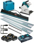 Makita DSP600ZJ LXT 2x18v (36V) BL Cordless Plunge Saw,MakPac Case - Plus 4 x 5.0Ah Batteries, Twin Charger & Rail Kit £749.95