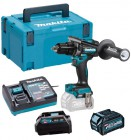 Makita HP001GD102 40V MAX XGT Brushless Combi Drill With 1x 2.5Ah Battery, Charger & Adaptor (for LXT) & Case £389.95