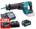 Makita JR001GD102 40V MAX XGT Brushless Recip Saw - Body With 1x 2.5Ah Battery, Charger & Adaptor (for LXT) £399.95 Makita Jr001gd102 40v Max Xgt Brushless Recip Saw - Body With 1x 2.5ah Battery, Charger & Adaptor (for Lxt)