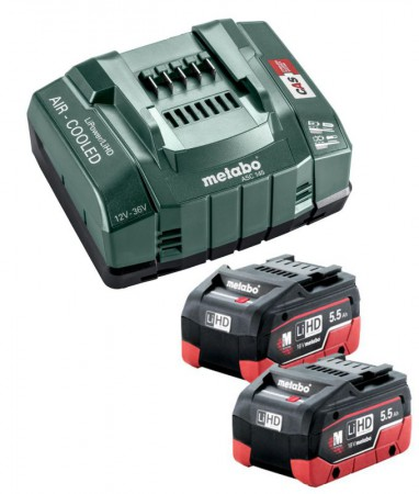 Metabo Basic Set 2 x LiHD 5.5Ah, ASC 145