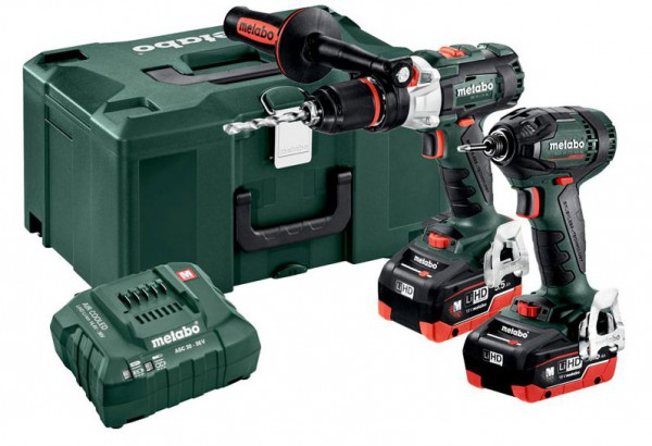 Metabo Combo Set 2.1.15 18 V BL LIHD Cordless Twin Pack with 2 x LiHD 5.5Ah Batteries