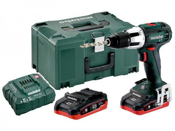 Metabo SB 18 LT Combi Drill, 2 x 18V LiHD 3.5Ah, ASC 30-36V Charger, Carry Case