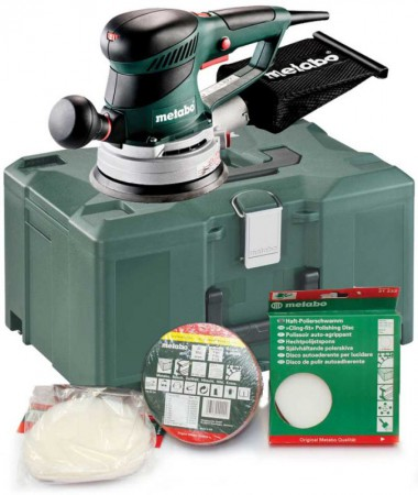 Metabo SXE450 Turbo Tec 110v Duo Orbit 2.8 Or 6.2mm Action Sander & Metaloc Case Plus Assorted Accessories