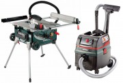 METABO TS254 240V Portable Table Saw Package With ASR25 L SC 240V Extractor £699.95