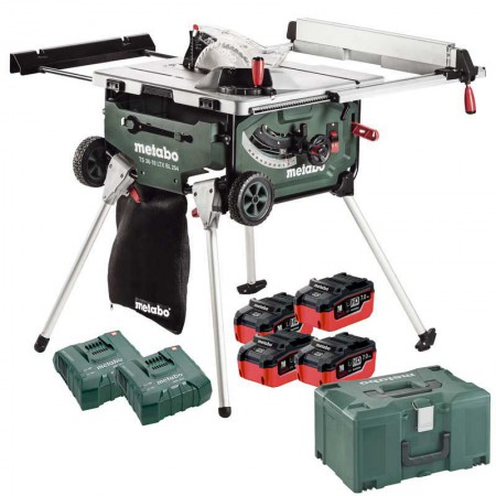Metabo TS 36-18 LTX BL 254 Brushless Table Saw, 4 x LiHD 7.0Ah, 2 x ASC Ultra, MetaLoc (Class 9 Delivery)