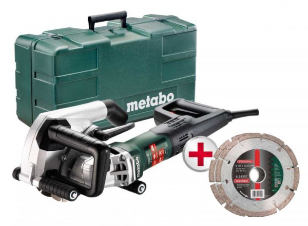 "Metabo MFE40 240V, 1900W, 40mm Wall Chaser c/w 2 x 5"" Diamond Blades,  Carry case"
