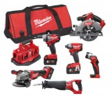 Milwaukee M18FPP6B-503B 18V Fuel 6 x Piece Kit 3 x 18V 5.0Ah Batteries & Bag £989.00