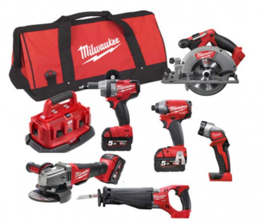 Milwaukee M18FPP6B-503B 18V Fuel 6 x Piece Kit 3 x 18V 5.0Ah Batteries & Bag