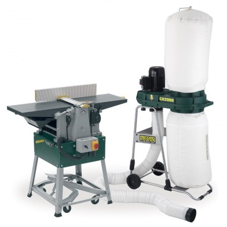 Record Power PT260-PK/A Planer Thicknesser with CX2000 Compact Chip Extractor & FREE Delivery!