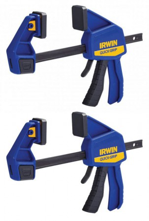 IRWIN Quick-Grip Quick-Change Bar Clamp 150mm (6in) Pack Of 2