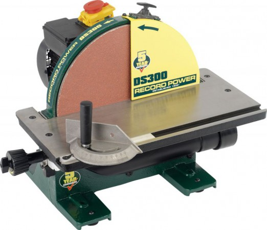 "Record Power DS300 240V 12"" (300mm) Cast Iron Disc Sander"
