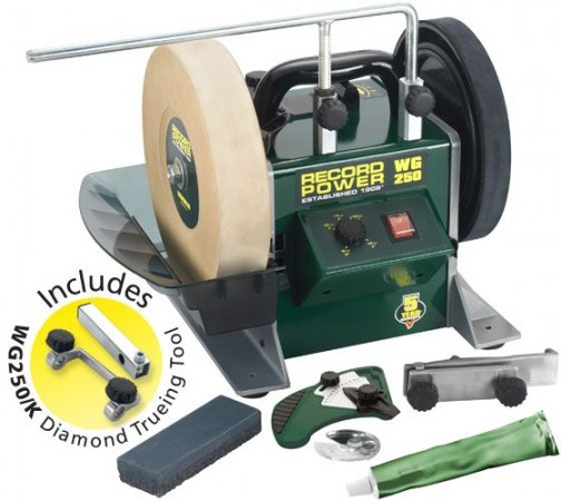"Record Power WG250 10"" Wetstone Grinder / Sharpener + Diamond Truing Jig & FREE DELIVERY!"