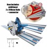 Scheppach PL55 240v Plunge Saw System with 2 X 1.4m Guide Rails, Connector & 2 x 700mm Guide Rails + 2 x Connectors & 2  £229.95 Scheppach Pl55 240v Plunge Saw System With 2 X 1.4m Guide Rails, Connector & 2 X Clamps
