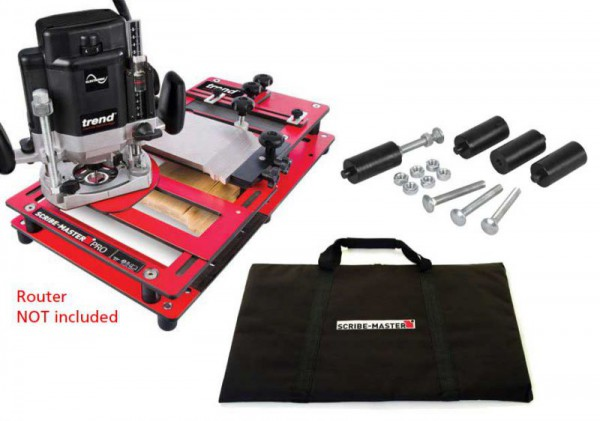 Trend Scribe-Master Pro Scribing Jig BUNDLE with Router Bit, Carry Bag & Mounting Kit