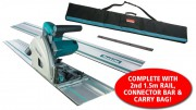 Makita SP6000K1 240V 165mm Plunge Saw, Carry Case with 2 x 1.5m Rails & Connector Bar & Rail Carry Bag £349.95