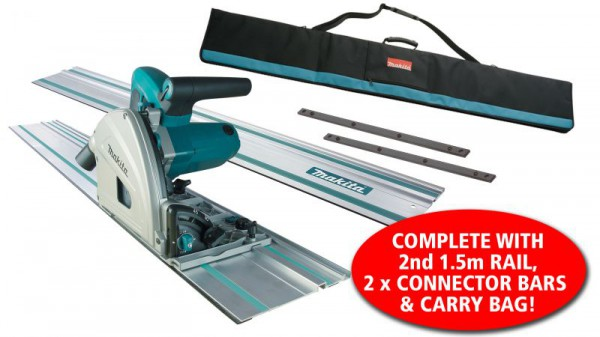 Makita Sp6000k1 240v 165mm Plunge Saw, Carry Case With 2 X