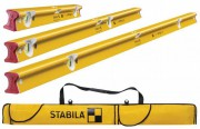 Stabila R-Type 300 Spirit Level Set, 3 Piece (61,122 & 183cm) & 6 Pocket Level Bag Free Worth £47.99 £199.95