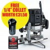 TREND T10EKL 110VOLT 2000W VARIABLE SPEED ROUTER 1/2INCH PLUS 1/4INCH COLLET FREE! £259.95 Tret10ekl 110volt 2000w Variable Speed Router 1/2inch