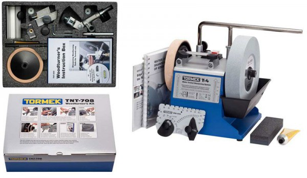 Tormek T-4 Water Cooled Sharpening System With NVR Switch & TNT-808 Accessory Kit