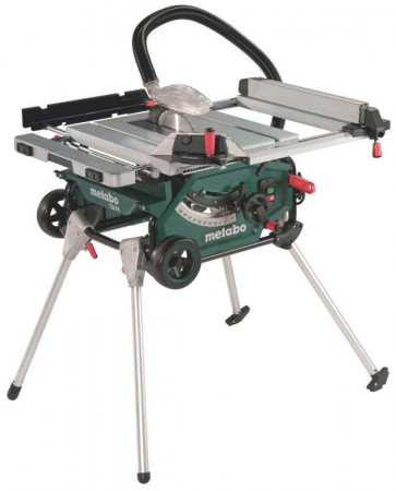 Metabo TS216 240v Table Saw With Integrated Stand & Wheels1500w Blade 216mm
