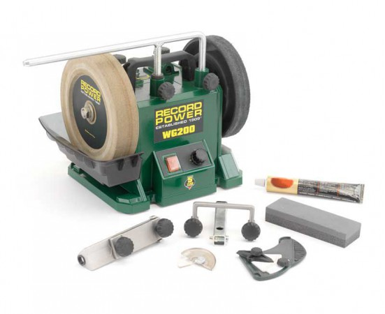 "Record Power WG200-PK/A 8"" Wetstone Grinder Package - With Diamond Dresser & Adjustable Speed & Free Delivery!"