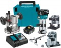 Makita DRT50ZJX3 18V LXT Brushless Cordless Compact Router Kit 2 x 5.0Ah Batteries & Charger £409.95 Makita drt50zjx3 18v Lxt Brushless Cordless Compact Router 5.0ah Kit