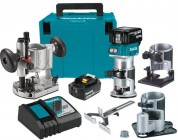 Makita DRT50ZJX3 18V LXT Brushless Cordless Compact Router Kit 2 x 5.0Ah Batteries & Charger £399.95