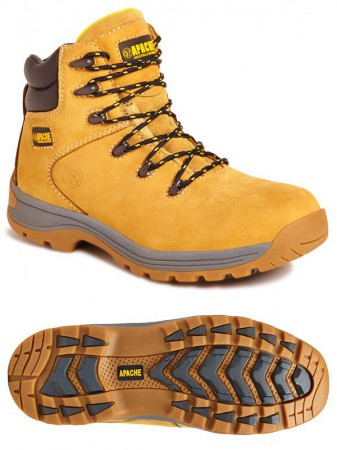 Apache AP314CM Wheat Full Grain Leather Safety Hiker