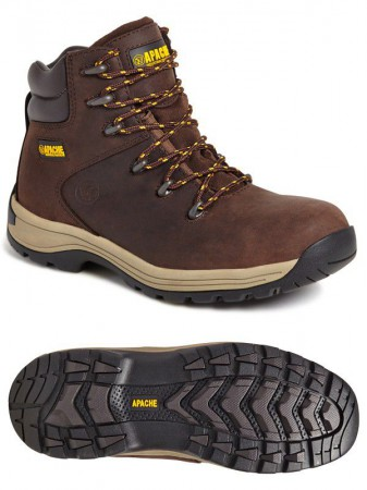 Apache AP315CM Brown Full Grain Leather Safety Hiker