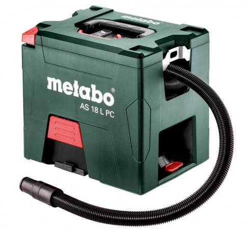 Metabo AS 18 L PC, Cordless 18V L-Class Vacuum Cleaner, Body Only