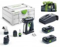 Festool 576443 18V Cordless drill C 18 HPC 4,0 I-Set 2 x 4.0Ah ASI Batteries, Rapid Charger in Systainer SYS3 M 187 + 5. £589.95 Festool 576443 18v Cordless Drill C 18 Hpc 4,0 I-set 2 X 4.0ah Asi Batteries, Rapid Charger In Systainer Sys3 M 187  