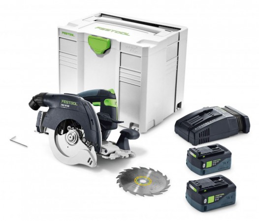 Festool 575676 HKC 55 Li 5,2 EBI-Plus-SCA GB 18v Cordless Circular Saw (2 x 18v 5.2Ah Bluetooth Batteries)