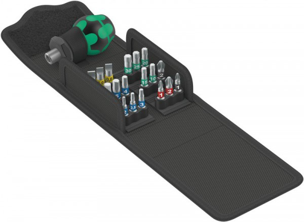 Wera Kraftform Kompakt Stubby 1, 19pc Set with Pouch, 05057471001