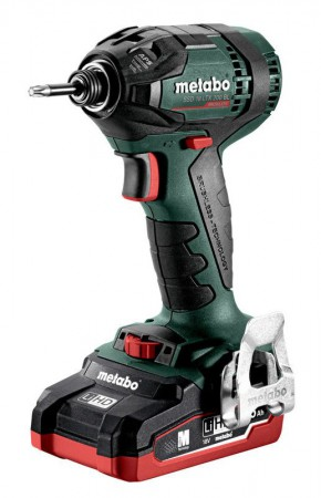 Metabo SSD 18 LTX 200 BL 18V Brushless Cordless Impact Driver with 2 x 4.0Ah LiHD Batteries, Charger and Case