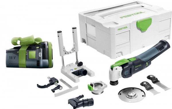 Festool 574849 Cordless oscillator OSC 18 Li E-Basic Set VECTURO + Free 5.2Ah Battery Worth £119.95!